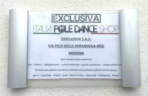 TARGHETTA EXCLUSIVA POLE DANCE STORE
